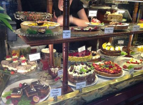 Hopetoun Tea Rooms - who can resist such delicious desserts?