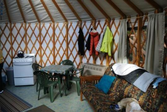 interior of yurt   Picture of Orca Island Cabins  Seward   TripAdvisor Orca Island Cabins  interior of yurt