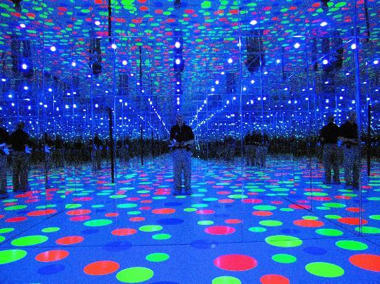 Mattress Factory Yayoi Kusama Infinity Dots In Mirrored Room