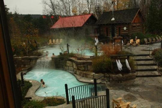 The hot baths and sauna   Picture of Scandinave Spa at Blue Mountain     Scandinave Spa at Blue Mountain  The hot baths and sauna