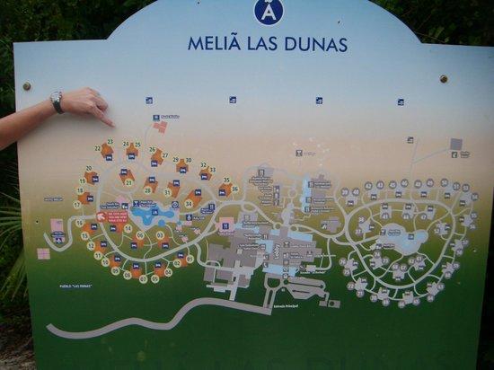 Hotel Map Picture Of Melia Las Dunas Cayo Santa Maria
