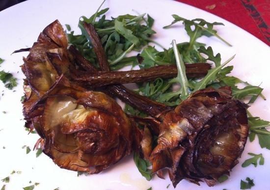 carciofi alla giudia - Picture of Rotonda Restaurant, Rome