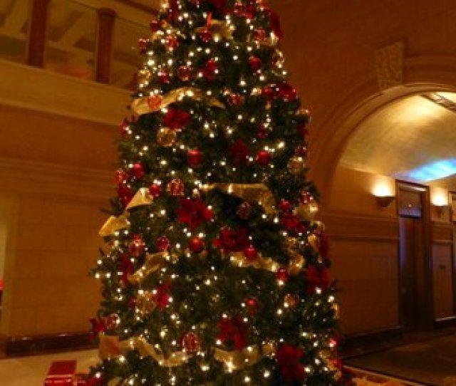 The Peninsula New York Christmas Tree In Hotel Lobby