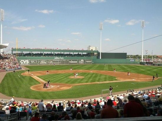 Red Sox dugout - Picture of JetBlue Park, Fort Myers ...