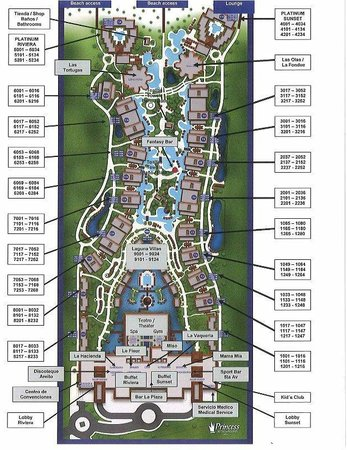 Resort Map Picture Of Grand Sunset Princess All Suites