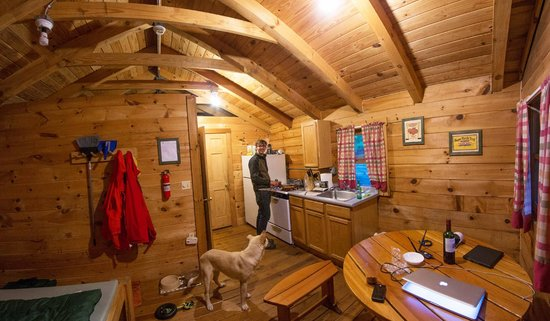 They also offer rustic cabin rentals for those without equipment or. Our Cabin Picture Of Prospect Mountain Campground Granville Tripadvisor