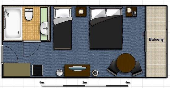 Standard Hotel Room FLoor Plan Picture Of Riverside