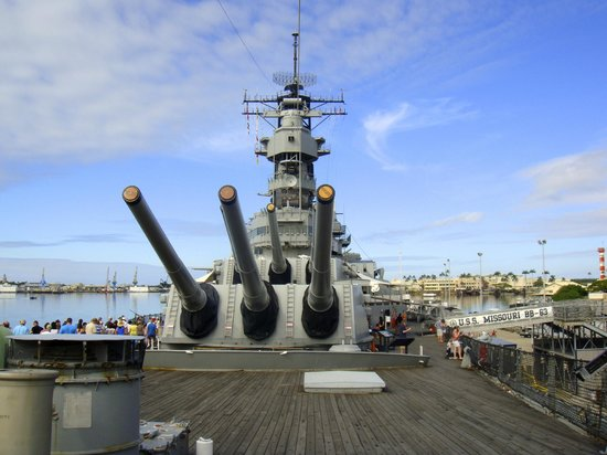 promotion ceremony on the USS Missouri - Picture of ...