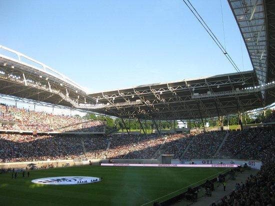 Rb leipzig to consider new stadium sooner? Rb Leipzig Aston Villa Review Of Red Bull Arena Leipzig Germany Tripadvisor