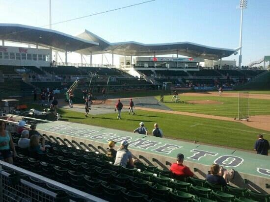 First base line - Picture of JetBlue Park, Fort Myers ...