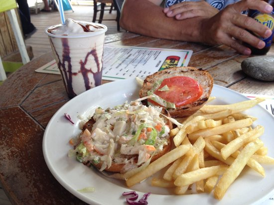 Best lobster sandwich ever! One if my favorite beach bars ...