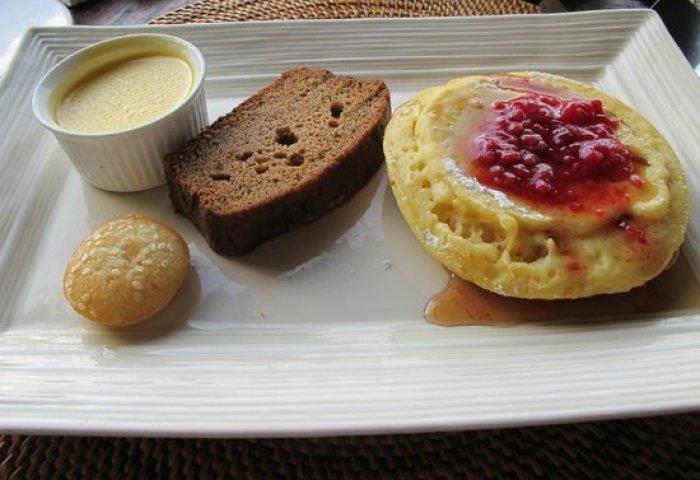 Pancakes Banana Cake Madeleine Cake Custard Picture Of Hanging