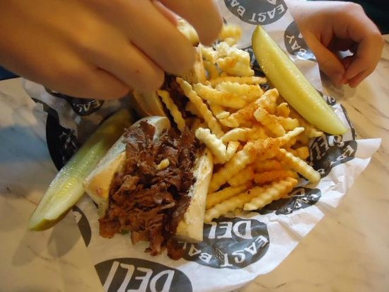 Philly Cheese steak but hold the cheese @ East Bay Deli in ...