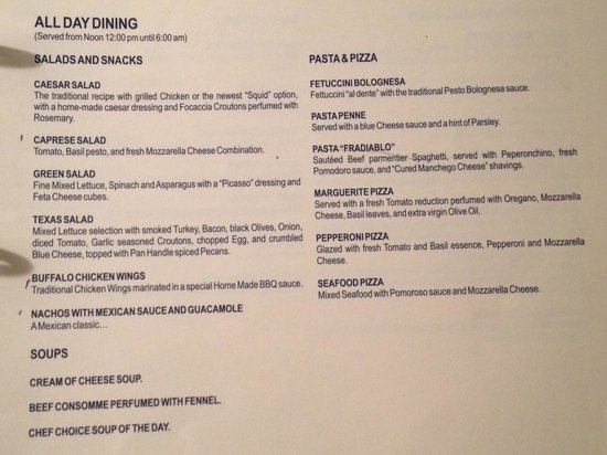 Room Service Menu Page 3 Picture Of Secrets Maroma Beach