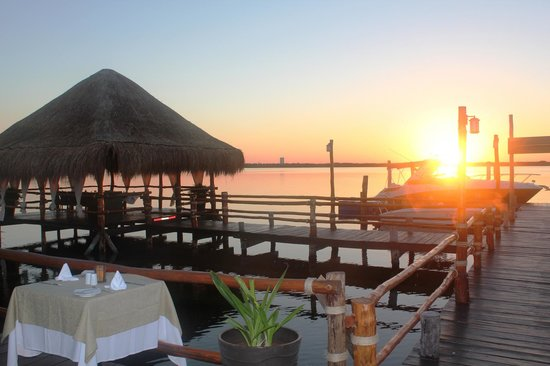 Sunset Picture Of NAVIOS Fusion Mexican Food Cancun