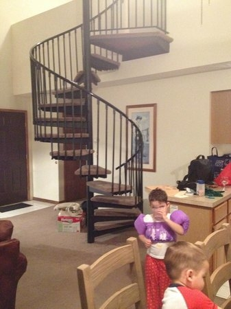 The Kids Loved The Spiral Stairs Up To The Loft We Adults Kept | Spiral Staircase Into Loft | Attic Stairs | Ladder | Bedroom | Space Saver | Staircase Ideas