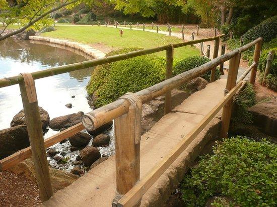bamboo garden bridge Bamboo bridge. - Picture of Japanese Garden, Toowoomba
