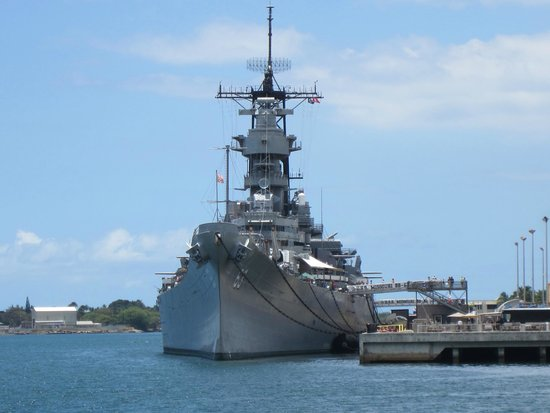 Ceremony on board the USS Missouri - Picture of Battleship ...