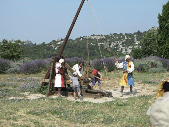 Trebuchet demo - Picture of Chateau des Baux de Provence ...