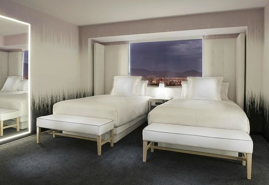 Sls Las Vegas Hotel Double Bed Room Inside The World Tower