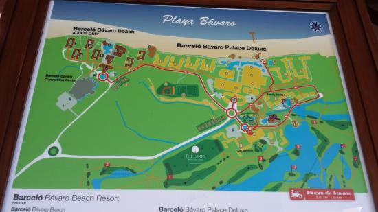 Map Of Resort Picture Of Barcelo Bavaro Palace Bavaro
