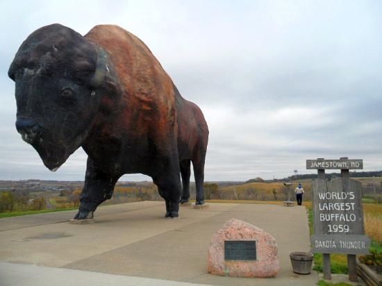 The giant statue of a buffalo - Picture of National ...