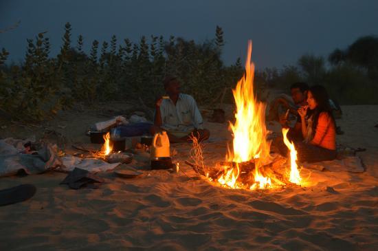 Image result for jaisalmer camp fire