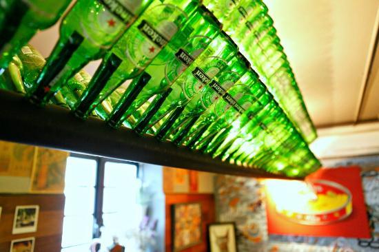 The Pecking Order Beer Bottle Chandelier