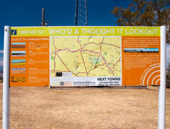 Local map   Picture of Who d A Thought It Lookout  Quirindi     Who d A Thought It Lookout  Local map