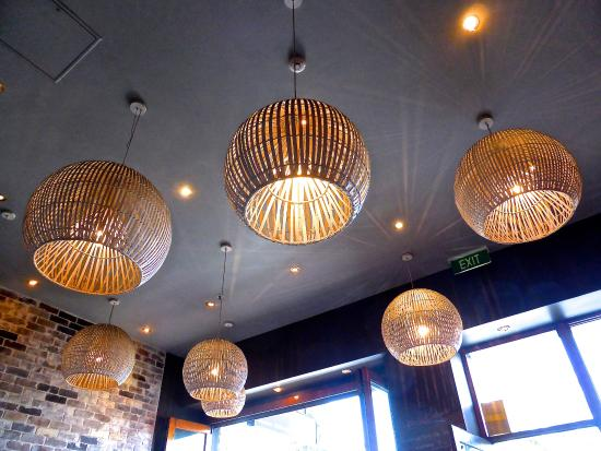 Soy Anese Restaurant Spherical Wicker Lamp Shades