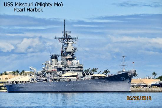 USS Missouri.Pearl Harbour - Picture of Battleship ...