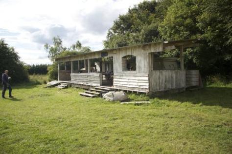 Image result for man & shack