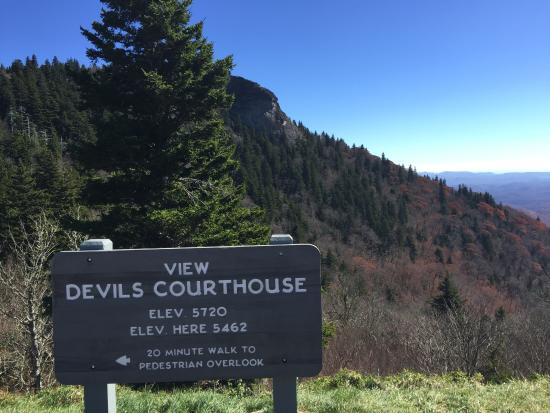 View of Devil's Courthouse from Parking area - Picture of ...