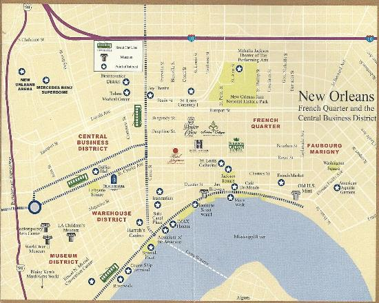 New Orleans Marketwatch New Orleans Street Maps And Neighborhoods Click  Here To Download Garden District Map New Orleans District Map Travelio Info  ...