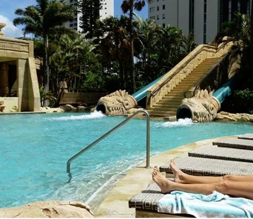 2 Water Slides Near The Pool Picture Of Mantra Sun City