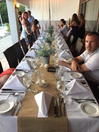 Wedding Reception Food Table Set Up