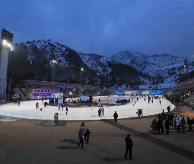 Almaty Kazakhstan High Mountain Medeo Skating Rink