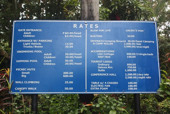 Rates Room Mountain Resort Mambukal