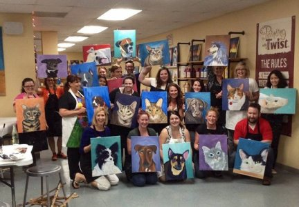 Beautiful Mansfield Painting with A Twist