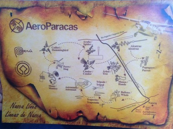 Mapa de las Líneas de Nazca. - obrázok Nasca Lines, Nazca - Tripadvisor