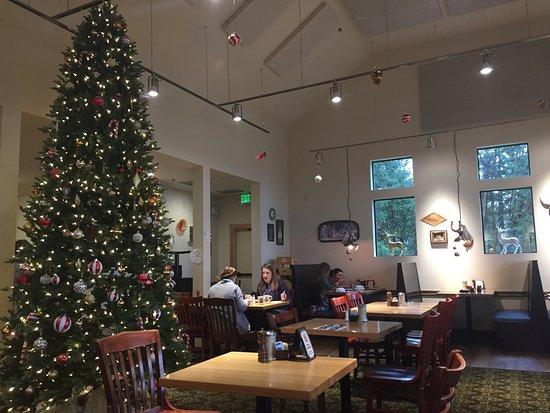 the christmas tree picture of oak table cafe silverdale tripadvisor