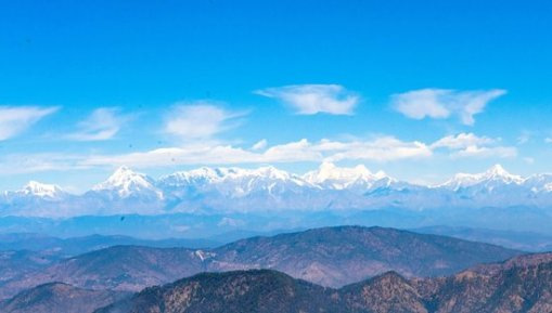Snow capped view of nanda devi mountain from top - Reviews, Photos - Snow  View Point - Tripadvisor