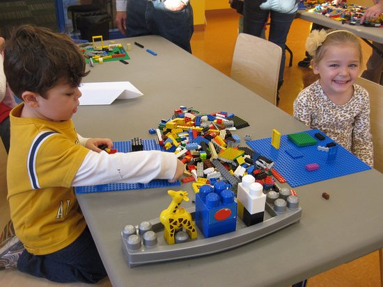 Playing at Lego Night   Picture of Children s Museum of Fond du Lac     Children s Museum of Fond du Lac  Playing at Lego Night