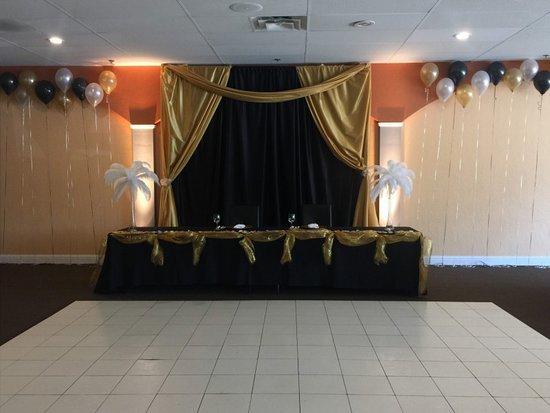 banquet room setup picture of el