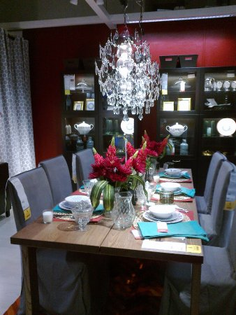 Lovely Dining Set Table Wares Chandelier Picture Of Ikea Restaurant Singapore Tripadvisor