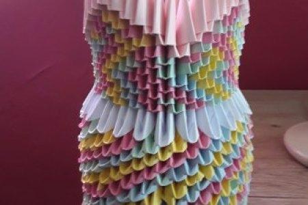Download Wallpaper Origami Paper Vase Full Wallpapers