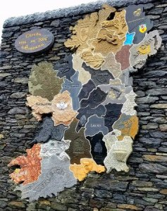 Stone Map of Ireland   Picture of Clocha na hEireann  Glencolmcille     Clocha na hEireann  Stone Map of Ireland