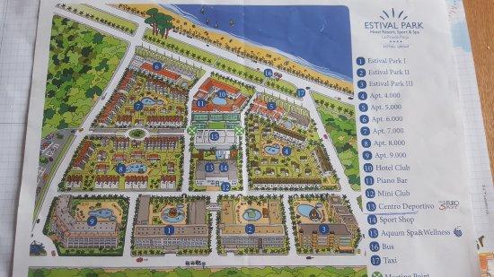 Estival Park Salou Plan Całego Hotelu