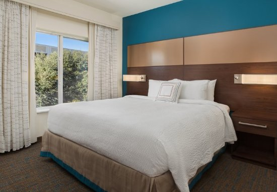 Residence Inn Shreveport Bossier City Downtown King Studio Suite Sleeping Area
