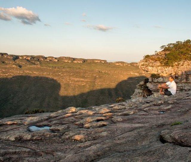 Chapada Diamantina National Park Enjoying The View Atop Of Morro Do Pai Inacio